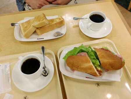 西宮名塩ICドトールコーヒーで朝食