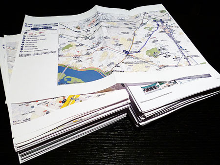 韓国旅行で準備していた手作りガイドブック