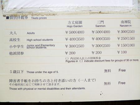 三門 拝観料500円