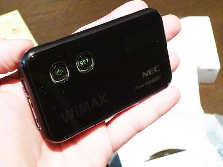 WiMAX NEC製 Aterm WM3800R