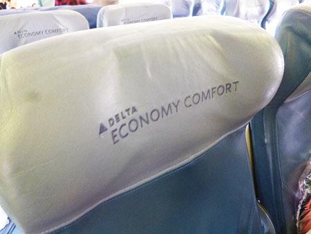 デルタ航空 エコノミーコンフォート 写真