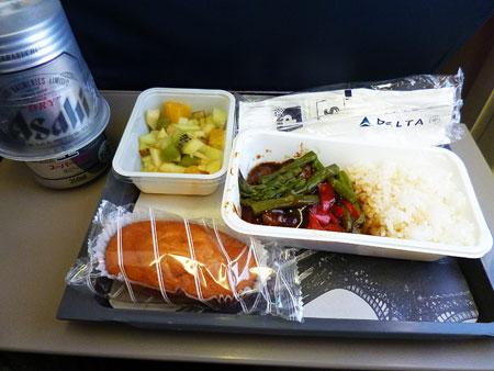 デルタ航空 機内食 写真