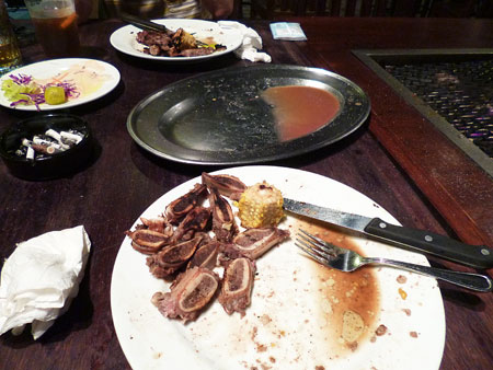 セイルズバーベキューで夕食 写真
