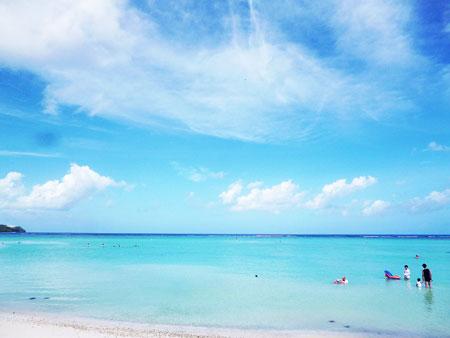 ウェスティンリゾートグアム プライベートビーチ 写真